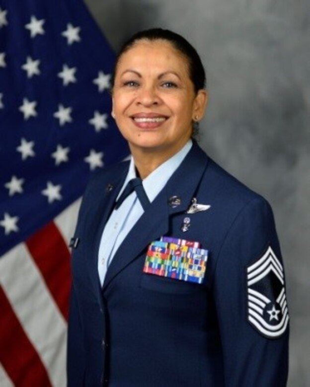 Chief Master Sgt. Josephine Keller is the Chief Enlisted Manager for the 403rd Aeromedical Staging Squadron, Keesler Air Force Base, Mississippi.