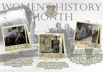 Outstanding female Airmen from around Keesler were highlighted for Women's History Month. Airmen were chosen from different ranks and career fields as outstanding Airmen.(U.S. Air Force graphic by Senior Airman Holly Mansfield)