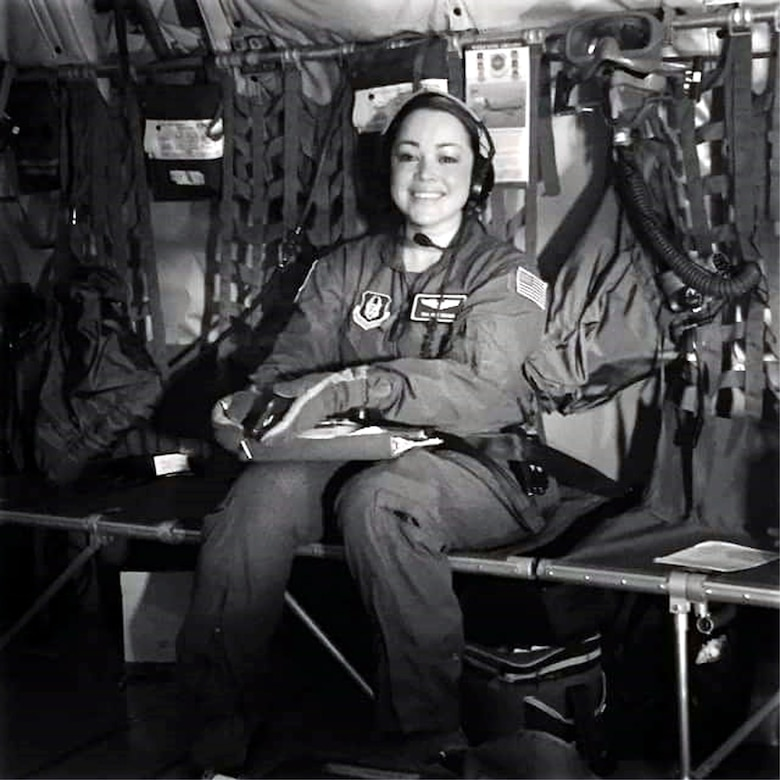 Staff Sgt. Amy Adams, 349th Aeromedical Evacuation Squadron Technician. (U.S. Air Force photo/Captain Lindsey Gilmore)