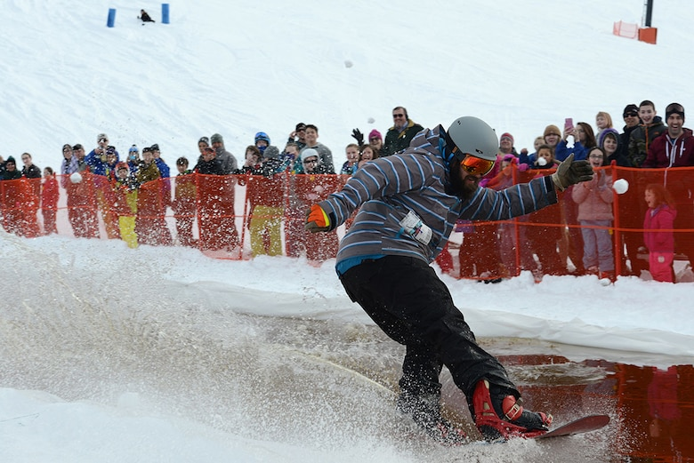 Trevor Bird, Hillberg Ski Resort manager, passed the slush pond without a fall for