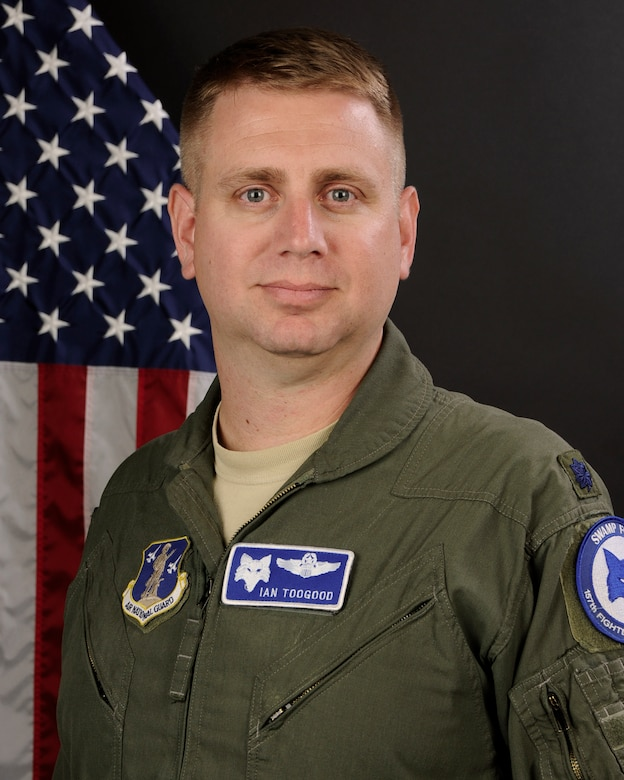 Portrait of U.S. Air Force Lt. Col. Ian Toogood, commander of the South Carolina Air National Guard's 169th Fighter Wing Aerospace Control Alert facility at McEntire Joint National Guard Base, S.C., Mar. 18, 2016. (U.S. Air National Guard photo by Senior Airman Ashleigh Pavelek)