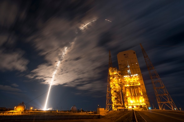 The 45th Space Wing supported NASA's successful launch of Orbital ATK's Cygnus spacecraft aboard a United Launch Alliance Atlas V rocket from Space Launch Complex 41 at Cape Canaveral Air Force Station, Fla., March 22, 2016. The rocket carrying Cygnus cargo vessel OA-6 is a resupply mission to the International Space Station supporting NASA's Commercial Resupply Services program. (Courtesy photo/United Launch Alliance)