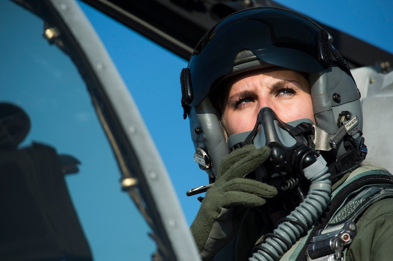 First Lt. Kayla Bowers, a 74th Expeditionary Fighter Squadron A-10 Thunderbolt II pilot, looks out of the cockpit of her aircraft during the squadron's deployment in support of Operation Atlantic Resolve at Graf Ignatievo, Bulgaria, March 18, 2016. Operation Atlantic Resolve is a demonstration of the United States' continued commitment to the collective security of NATO and dedication to the enduring peace and stability of Europe. (U.S. Air Force photo/Staff Sgt. Joe W. McFadden)