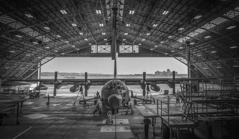 A U.S. Air Force MC-130 Talon II, from Kadena Air Base, Japan, sits in the phase docks to be repaired at Yokota Air Base, Japan, Feb. 19, 2016. The aircraft will enter the phase docks every 540 days for a 14 to 16-day inspection and to be repaired. (U.S. Air Force photo by Senior Airman David Owsianka/Released)
