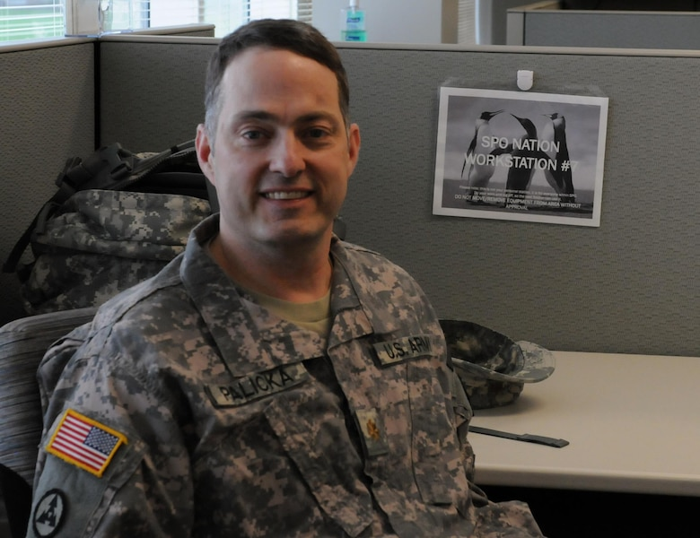 Maj. Mark Palicka of the 364th ESC is looking forward to his unit's mission in Poland's Anakonda 16 for a special reason. He recently traced his family's heritage to Poland using genealogy websites.