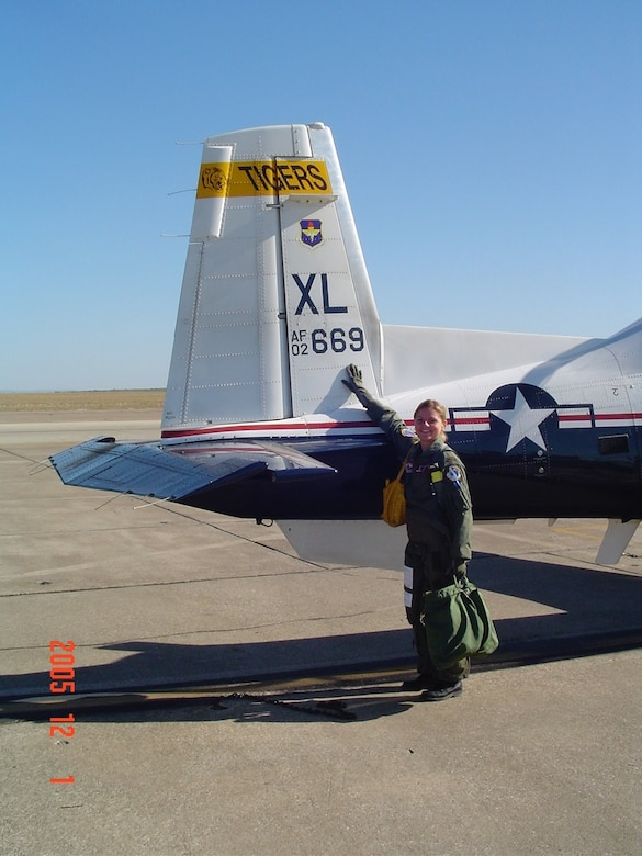 Dana Novinskie, a pilot at the 109th Airlift Squadron, a part of the 133rd Airlift Wing, has been flying since she was 22. This year, she became the first female instructor pilot the wing has ever had. (Photo Courtesy of Maj. Dana Novinskie)
