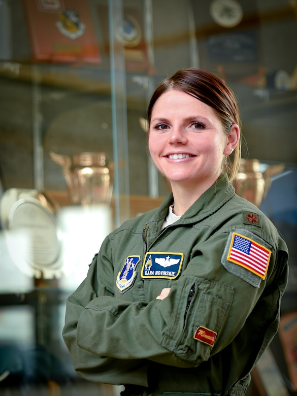 Dana Novinskie, a pilot at the 109th Airlift Squadron, a part of the 133rd Airlift Wing, has been flying since she was 22. This year, she became the first female instructor pilot the wing has ever had.