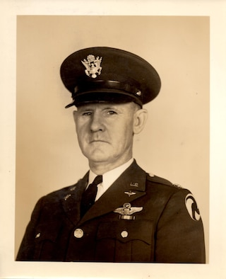 Colonel Joseph L. Stromme, US Army Air Corps, who declared Portland Army Air Base activated on Thursday, 13 March 1941, was the first commander of the base. A native of Volga, South Dakota, he graduated from Hamline University in St. Paul, Minnesota, before joining the Army at Fort Snelling, Minnesota, in 1917. He was commissioned as a 2nd Lt., Infantry, and transferred to the Air Service at Kelly Field, Texas, in December, 1917. He served three tours in the Office of the Chief of the Air Corps, four years on staff in the War Department, graduated from the Army Industrial College and Harvard Graduate School of Business Administration.  Stromme served three years as the Air Corps industrial planning officer on the west coast at March Field, California, before taking command at Portland. (142FW History Archives, Robert Hall Collection)