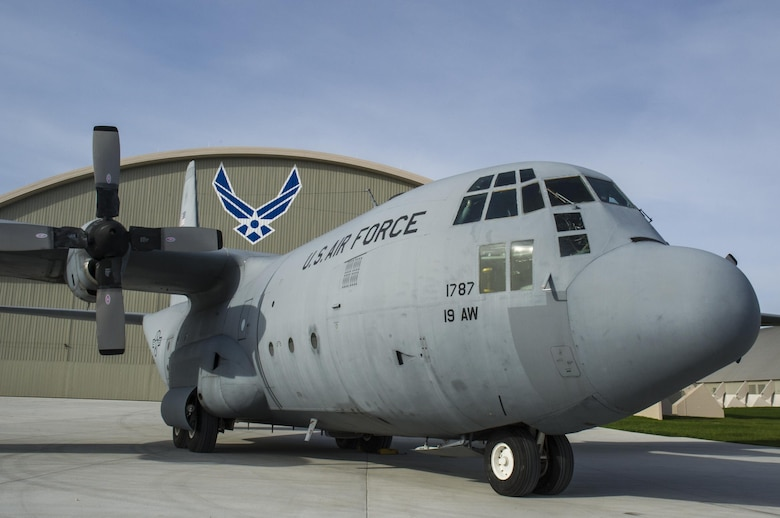 DAYTON, Ohio -- The C-130E SPARE 617 at the National Museum of the U.S. Air Force. Not only is this C-130E (S/N 62-1787) representative of all C-130 transport aircraft, it also performed courageous work during the Southeast Asia War. Two members of its crew – Capt. William Caldwell, pilot, and Tech. Sgt. Charlie Shaub, loadmaster – were awarded Air Force Crosses, the U.S. Air Force's second highest award for valor, for their heroic actions during the siege of An Loc in 1972. (U.S. Air Force photo by Ken LaRock)