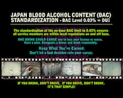 The new policy, which goes into effect Monday, establishes a .03 Blood Alcohol Content standard for all drivers on U.S. installations. This is the same limit set by Japanese law and means that the same standards will apply regardless of whether you're driving on or off base. Operating a motor vehicle with a BAC level of .03 and above constitutes Driving Under the Influence under Japanese law. (U.S. Air Force Graphic by Naoko Shimoji)