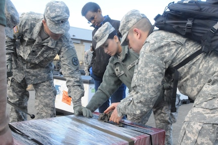 Because of the nature of their mission, the 483rd QM Co. are among the first to arrive and last to leave for a deployment. That's why Soldiers in the 483rd Quartermaster Company have spent every training assembly this year counting, weighing, packing and moving their own equipment in preparation for their logistics mission in Poland this summer.