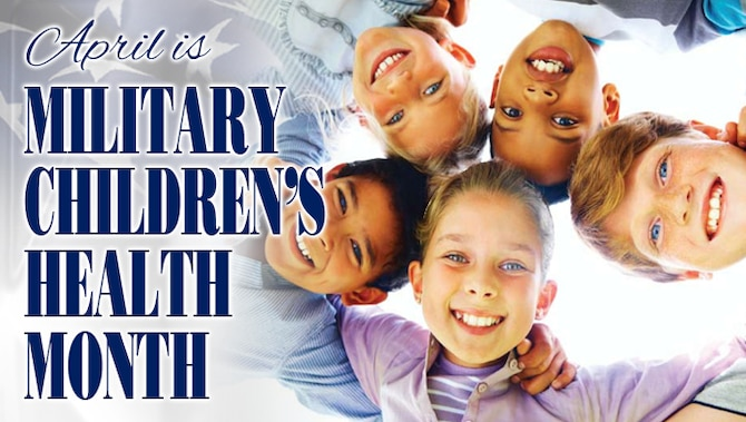 April is Military Children's Health Month website