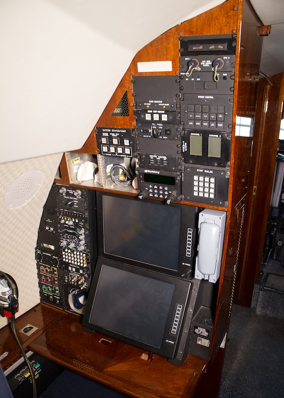 DAYTON, Ohio -- Gulfstream Aerospace C-20B interior view in the Presidential Gallery at the National Museum of the United States Air Force. (U.S. Air Force photo by Ken LaRock)