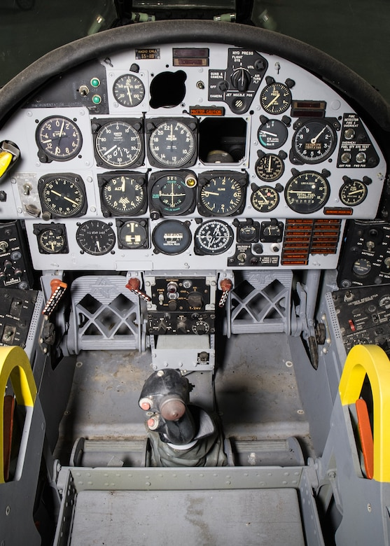 DAYTON, Ohio -- North American F-107A cockpit in the Research and Development Gallery at the National Museum of the United States Air Force. (U.S. Air Force photo by Ken LaRock)
