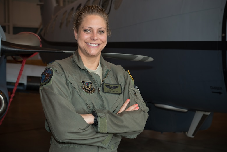 Air Force Capt. Sharla Hilton continues the tradition of women aviators at Will Rogers Air National Guard Base, Oklahoma City, as the 137th Air Refueling Wing celebrates Women's History Month.