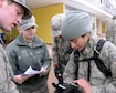 Cadets competing in Polaris Warrior at the U.S. Air Force Academy April 29-30, 2016, stayed connected via Virtual Badge, a system that identifies credentials, tracks individual and troop movements, and can compile information on large activities, including natural or manmade disasters. Virtual Badge is a Smartphone-based technology system used to provide data reports from the field to track events or people. (U.S. Air Force photo/Mike Kaplan)