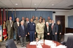 Air Force Gen. Darren W. McDew, USTRANSCOM Commander visited DLA Distribution April 27.