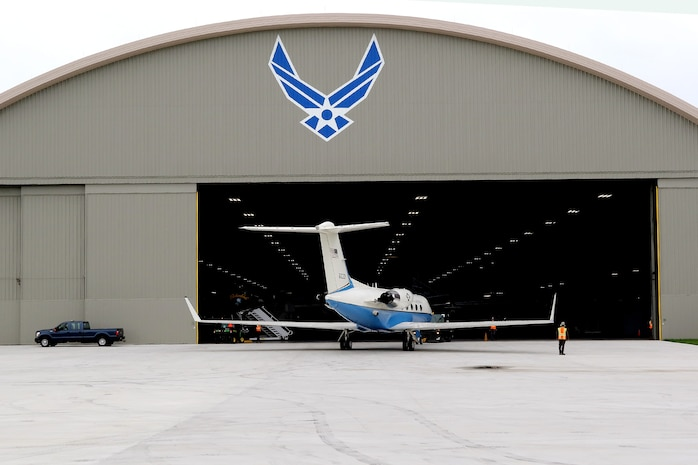 DAYTON, Ohio -- The Gulfstream Aerospace C-20B being towed into the fourth building at the National Museum of the United States Air Force. (U.S. Air Force photo by Don Popp)