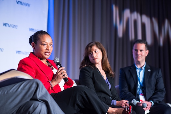 "Ms. Janice Glover-Jones, DIA's Chief Information Officer (CIO) participated in a ""CIO Fireside Chat"" at the FedScoop Public Sector Innovation Summit on Tuesday, April 26, 2016."
