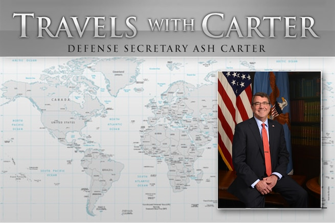 Defense Secretary Ash Carter is traveling to New England to visit Navy installations in New London, Connecticut, and Newport, Rhode Island. He also commissioned cadets from Yale University's first ROTC graduating class since the Vietnam War era.