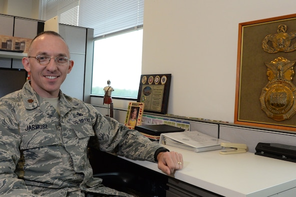 Maj. Gregory Jarmusz, an Air Force District of Washington Capital Airman, is an essential contributor to the Air Force security forces mission locally and abroad. He is a security forces operations chief for AFDW's A4 directorate. AFDW Capital Airmen have made a difference in their unit by their outstanding performance. Capital Airmen, selected by AFDW leaders, epitomize the pride, teamwork, and success that drive the AFDW mission.  (U.S. Air Force photo/ Courtesy)