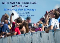 Kirtland Air Force Base is scheduled to have its first Air Show in five years, June 4 and 5. Shuttle bus service will be available from off base locations starting at 9:00 a.m. each day. The flying acts are scheduled to start at 11:00 a.m. The U.S. Air Force Thunderbirds demonstration team ground show is scheduled to begin at 2:00 p.m. ALL TIMES ARE SUBJECT TO CHANGE. We look forward to welcoming the community onto base and celebrating Kirtland's 75th Anniversary with a spectacular show. NO TICKETS, NO I.D. REQUIRED. This event is FREE and OPEN TO THE PUBLIC. See you there!