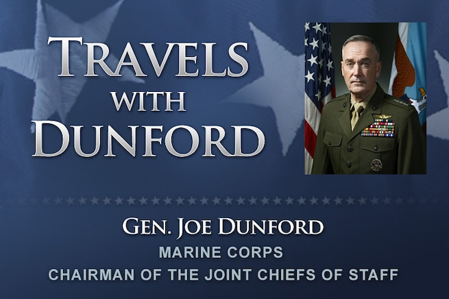 Marine Corps Gen. Joe Dunford, chairman of the Joint Chiefs of Staff, is traveling to Europe to attend the changes of command for U.S. European Command in Germany and NATO's Allied Command Operations in Belgium.