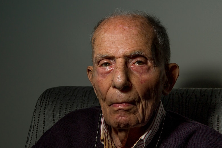 Bob Behr, 94, experienced the entire Holocaust from 1933 until he was liberated in 1945. Behr would eventually immigrate to the U.S., where he enlisted in the Army, and later worked for the Air Force as a civilian in the intelligence field for more than 35 years. (U.S. Air Force photo/Staff Sgt. Christopher Gross)