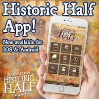 Download the Historic Half App through any smartphone to view both the Historic Half and Semper five course maps, event weekend schedule including the Healthy Lifestyle Expo, parking and shuttle information and important event-day news such as weather updates, road closures, Family Link Up location, runner tracking and runner results. Both the Historic Half App and Track A Runner programs are available free of charge.