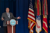 Deputy Defense Secretary Bob Work delivers remarks during the Public Service Recognition Week ceremony at the Pentagon, May 4, 2016. DoD photo by Air Force Senior Master Sgt. Adrian Cadiz