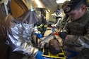 U.S. Air Force emergency responders treat a simulated casualty, at Kadena Air Base, Japan, during an active shooter exercise May 4, 2016. The scenario acted as a training tool for participants, giving them insight into a potential real-world active shooter situation in the future. (U.S. Air Force photo by Staff Sgt. Maeson L. Elleman/Released)