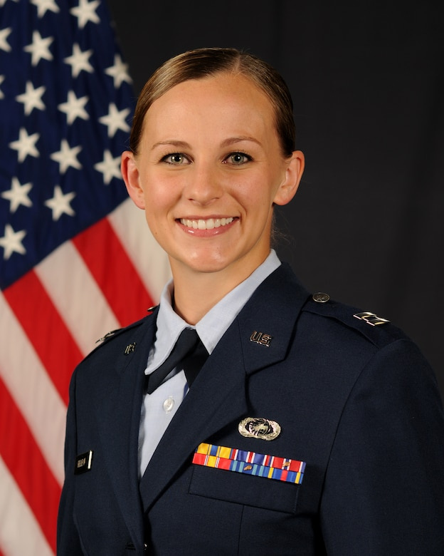 Capt. Elizabeth Belleau, a behavioral scientist, earned the sexual assault response coordinator of the year award for her work both as the SARC at Kadena Air Base, Japan, and while deployed as the SARC for the 435th Air Expeditionary Wing, U.S. Africa Command, April 28th, 2016.  The award recognizes the Air Force SARC whose work has been particularly noteworthy and demonstrates outstanding service in support of service members. (U.S. Air Force photo by SrA Malia Jenkins/Released)