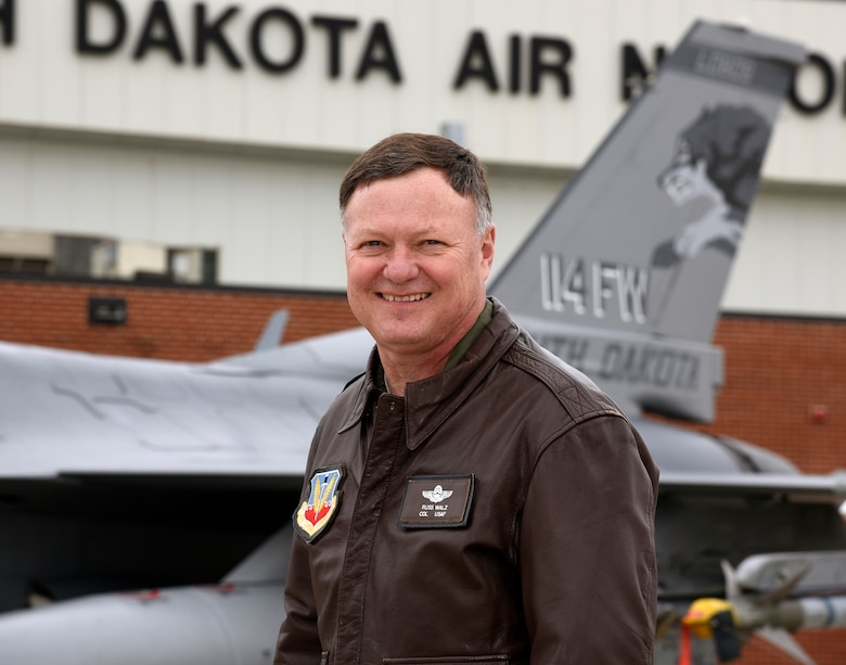 SIOUX FALLS, S.D. - Col. Russ A. Walz, 114th Fighter Wing commander, will be promoted to the rank of Brig. Gen. May 1, 2016 and moving to his new position as the Director of Joint Staff, Joint Force Headquarters, South Dakota National Guard and South Dakota Air National Guard Chief of Staff.  Walz has served as the 114th Fighter Wing commander for 10 years and is a command pilot with over 3,750 total fighter hours in the A-7D and F-16C aircraft. He has over 70 combat hours in support of Operations NORTHERN and SOUTHERN WATCH. . (U.S. Air National Guard photo by Senior Master Sgt. Nancy Ausland/released)