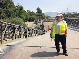 Engineering Technical Lead Crystal Markley provides engineering expertise and support to determine what caused a bridge to collapse in Haiti.