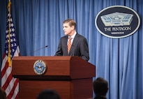 Pentagon Press Secretary Peter Cook briefs reporters at the Pentagon, May 5, 2016. DoD photo by Army Sgt. First Class Clydell Kinchen