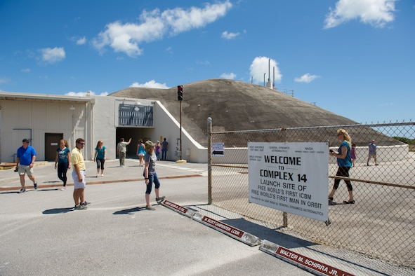 The 45th Space Wing hosted a rare opportunity for more than 2,500 family and friends to tour Cape Canaveral Air Force Station, Florida, April 23, 2016. Guests received an inside look at space launch operations here and landing facilities at the most active spaceport on the Eastern seaboard of the U.S. Guests of the 45th Space Wing members are critical to achieving 100 percent mission success at the World's Premier Gateway to Space. (U.S. Air Force photos/Benjamin Thacker) (Released)