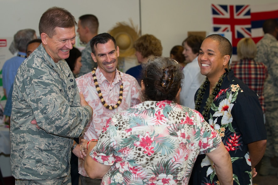 The 45th Space Wing hosted an Asian American and Pacific Islander event at the Patrick Air Force Base, Fla., Shark Center, to kick off the heritage observance month with the Taste of Asia event May 4, 2016. The theme for this year's observance is: Walk together, embrace differences, build legacies, which is designed to bring cultural awareness through art, education, food, entertainment and more. (U.S. Air Force photos/Benjamin Thacker) (Released)