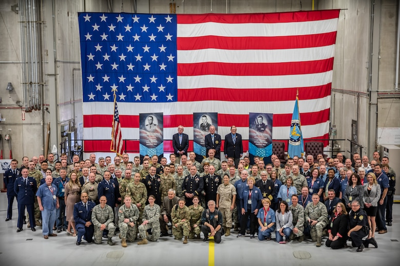 The Medal of Honor Meet and Greet  honors military, law enforcement, and first responders affiliated with assisting the Twin Cities 2016 hosting of the Congressional Medal of Honor Convention, set for October of this year.  (U.S. Air Force photo by Shannon McKay)
