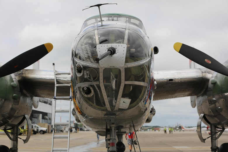 "The B-52 Bomber ""Panchito"" sits on display on the flight line at the 2016 Marine Corps Air Station Cherry Point Air Show -- 