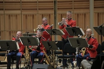 On May 8, 2016, the Marine Latin Jazz Ensemble presented a concert in John Philip Sousa Band Hall at the Marine Barrack Annex in Washington, D.C. The program featured salsa, Afro-Cuban, Venezuelan music, Mambo, cha-cha, and a few modern arrangements. (U.S. Marine Corps photo by Master Sgt. Amanda Simmons/released)