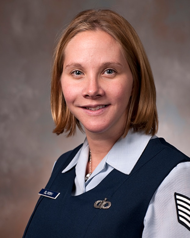 Tech. Sgt. Lindsay Slimski is one of five members of the Air Force inaugural class enrolled in the Enlisted to Medical Degree Preparatory Program. The Enlisted to Medical Degree Preparatory Program is a partnership between the Armed Services and Uniformed Services University. Designed for enlisted service members, the two-year program enables members to remain on active duty status while enrolled as full-time students in preparation for application to medical school. (Courtesy photo)