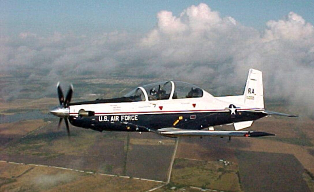 The T-6A Texan II aircraft. (U.S. Air Force photo)