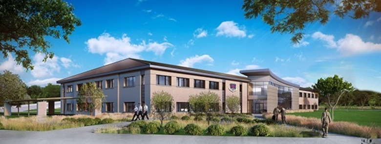The 59th Medical Wing's new Reid Clinic will enhance health care delivery for 80,000 patients on Joint Base San Antonio-Lackland, Texas. Construction on the two-story, 80,000 square-foot, state of the art facility is set to begin in December. (Courtesy image)