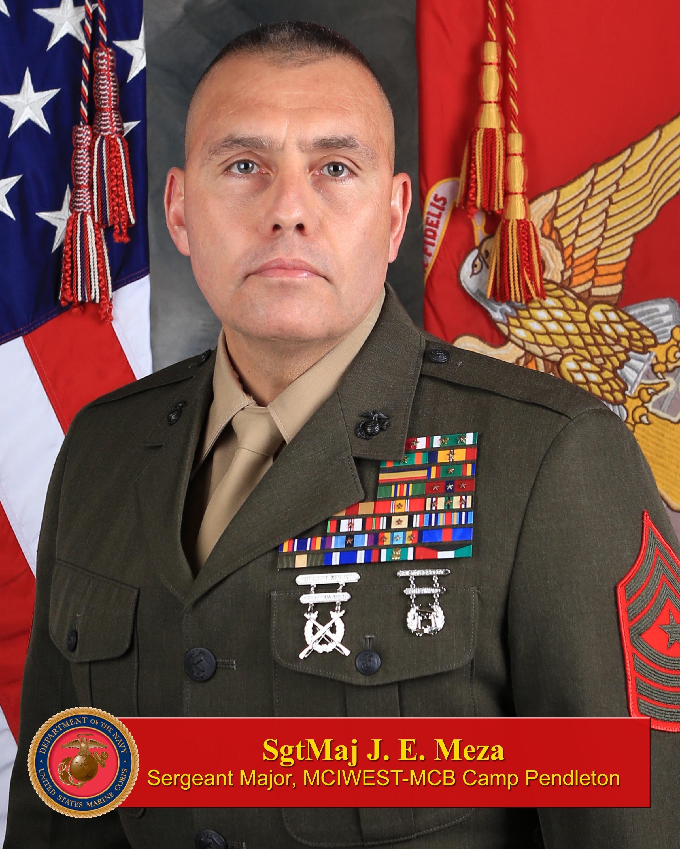 Sergeant Major Julio E. Meza > Marine Corps Base Camp ...
