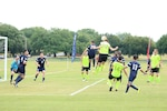 The Navy defends the final barrage of shots to defeat Air Force 1-0 in the 2016 Armed Forces Men's Soccer Championship at Fort Benning, Ga. The 2016 Championship is held from 6 to 14 May featuring teams from the Army, Marine Corps, Navy and Air Force.  Coast Guard personnel are competing on the Navy team.
