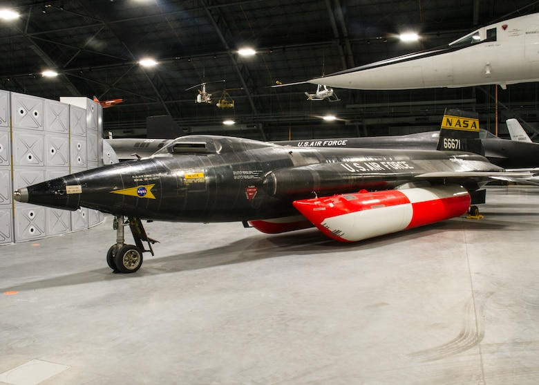 DAYTON, Ohio -- North American X-15A-2 on display in the Space Gallery at the National Museum of the United States Air Force. (U.S. Air Force photo by Ken LaRock)
