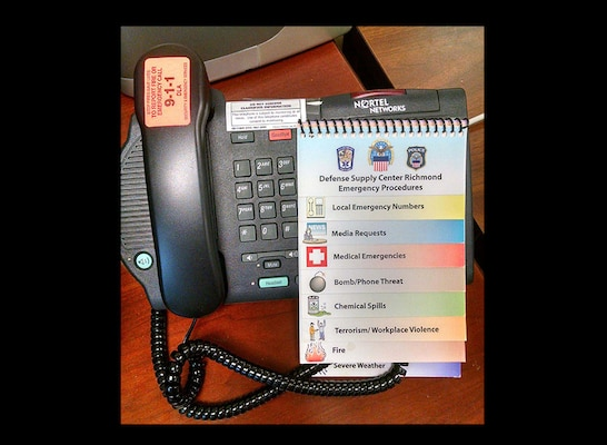 May is 9-1-1 Awareness Month at Defense Supply Center Richmond, Virginia. Fire and Emergency Services stress the importance of what information is needed during emergencies to help first responders when making calls to 9-1-1.
