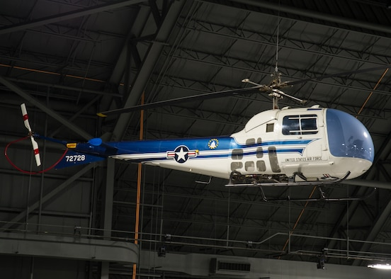 DAYTON, Ohio -- Bell UH-13J Sioux in the Presidential Gallery at the National Museum of the United States Air Force. (U.S. Air Force photo by Ken LaRock)