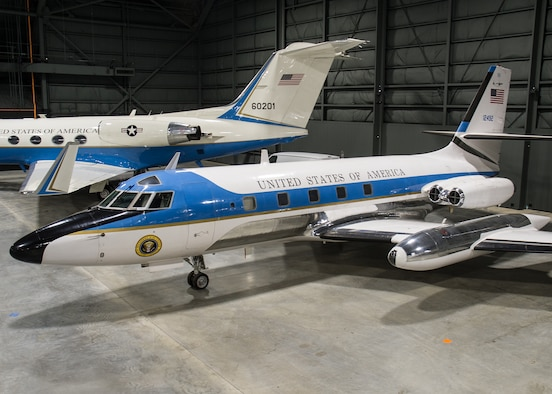 DAYTON, Ohio -- Lockheed VC-140B JetStar in the Presidential Gallery at the National Museum of the United States Air Force. (U.S. Air Force photo by Ken LaRock)