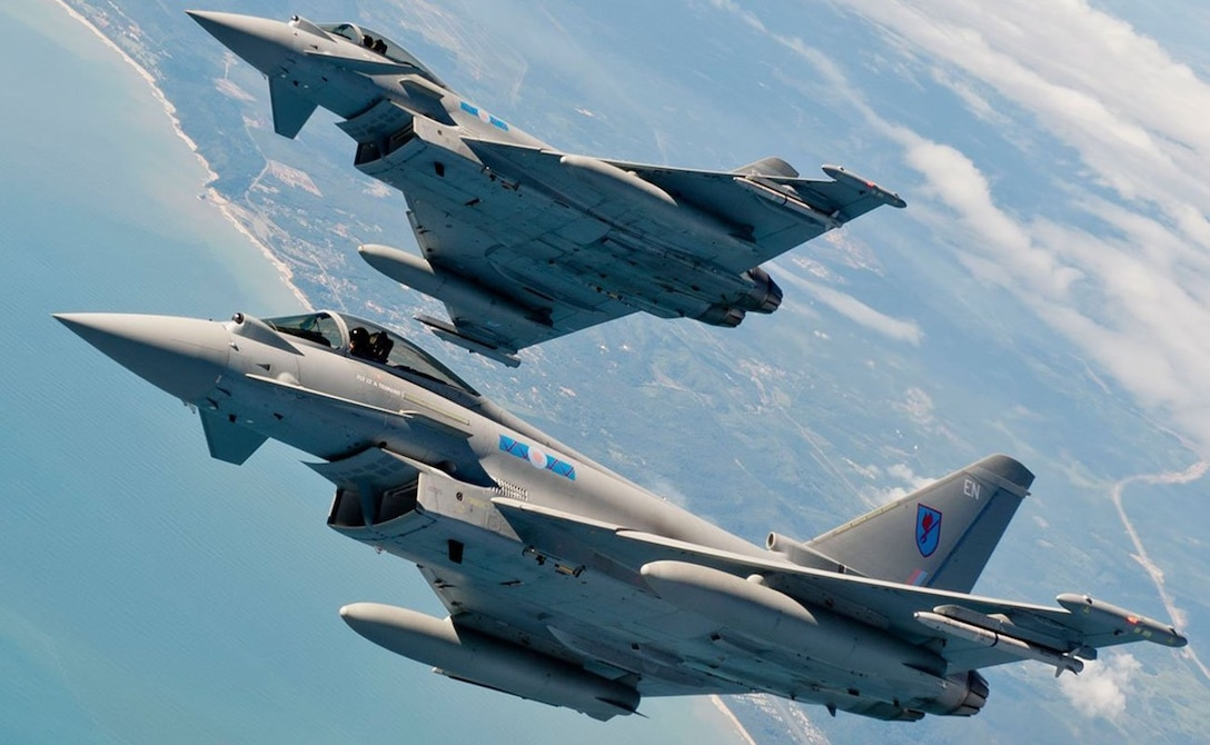 Royal Air Force Eurofighter Typhoons support the coalition air effort over Southwest Asia. (RAF photo)